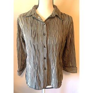 Foxcroft women's size 12 petite checkered shirt